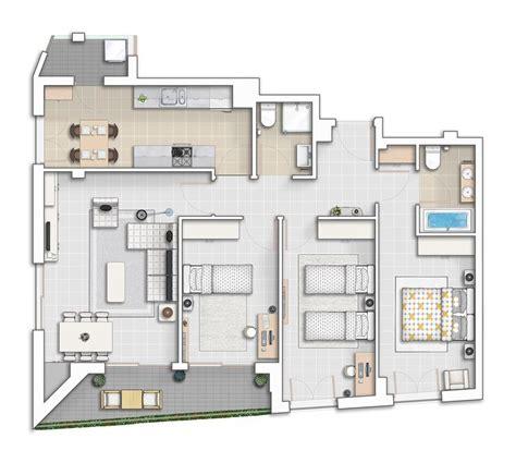 Floor Plan Presentation presentation drawing floor plan atchitectural interior