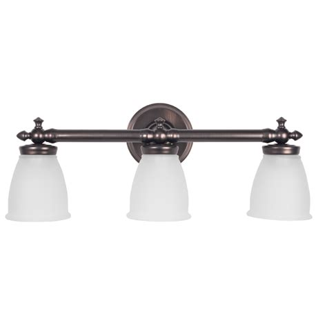delta light fixtures bathroom shop delta victorian 3 light 9 5 in oil rubbed bronze