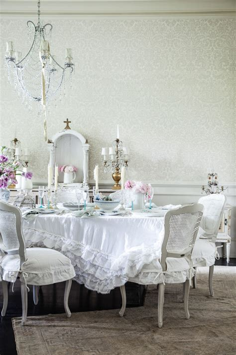 shabby chic whitedining room cushions soft and pretty rooms for you town country living