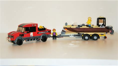 lego working boat custom lego boat trailer youtube