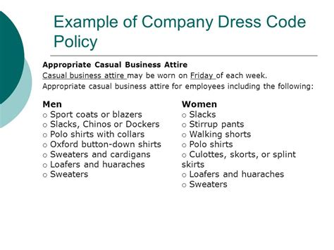 dress code policy sle best gowns and dresses ideas