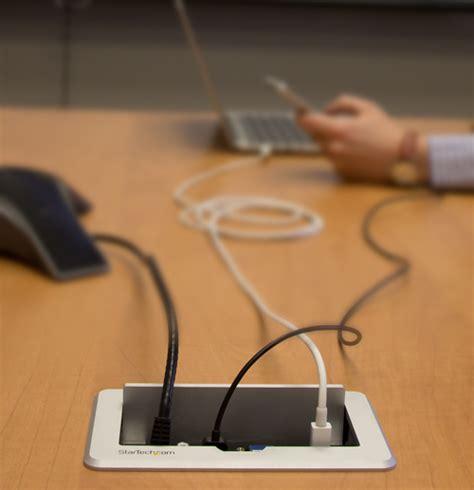 Conference table connectivity box hdmi vga mdp to hdmi startech com