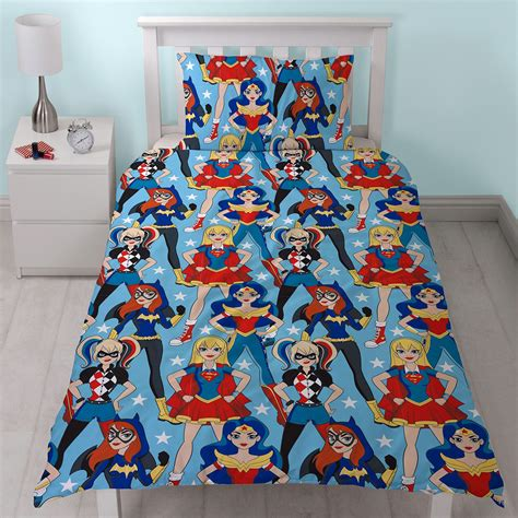 harley quinn bedding dc super hero girls duvet cover set wonder woman harley