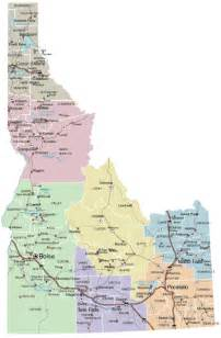 State Of Idaho Map by Idaho State Map With Cities Images