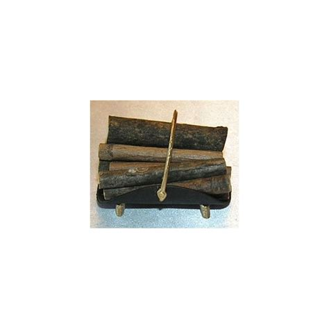 fireplace log holder w logs bk gd co dollhouse miniature