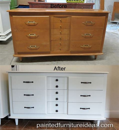 How To Repaint A Wood Dresser by Painting A Dresser White Bukit