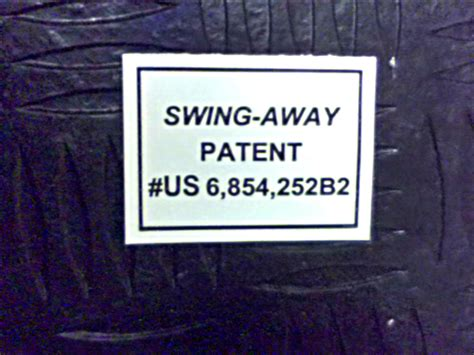 swing away bad boy mowers 091 3060 00 swing away patent decal