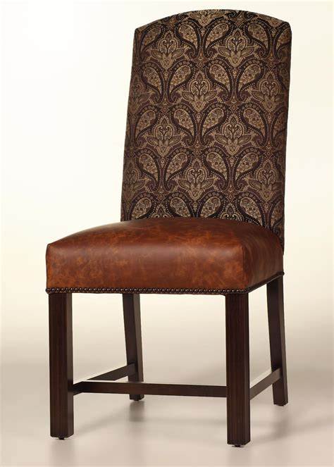 cambridge dining chair  leather seat  nailhead trim