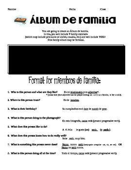 Project: Album de familia (My 8th grade curriculum