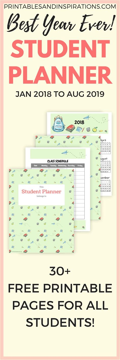 15 checklist schedule and planner templates for students