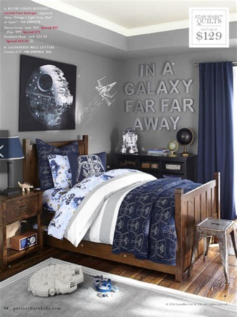 star wars themed bedroom ideas if your kids were pottery barn kids suburban