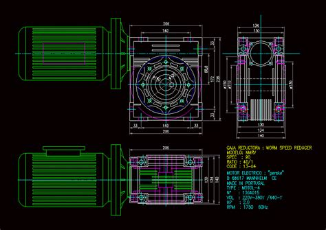 gearbox electric motor dwg block  autocad designs cad