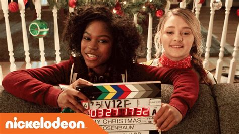 bts of tiny christmas movie w bff s lizzy greene