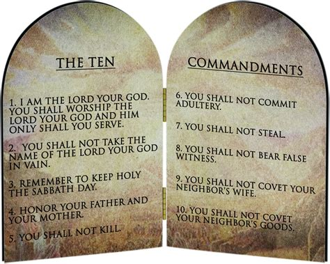 The Ten Commandments beliefs presumably he s never heard of the ten commandments