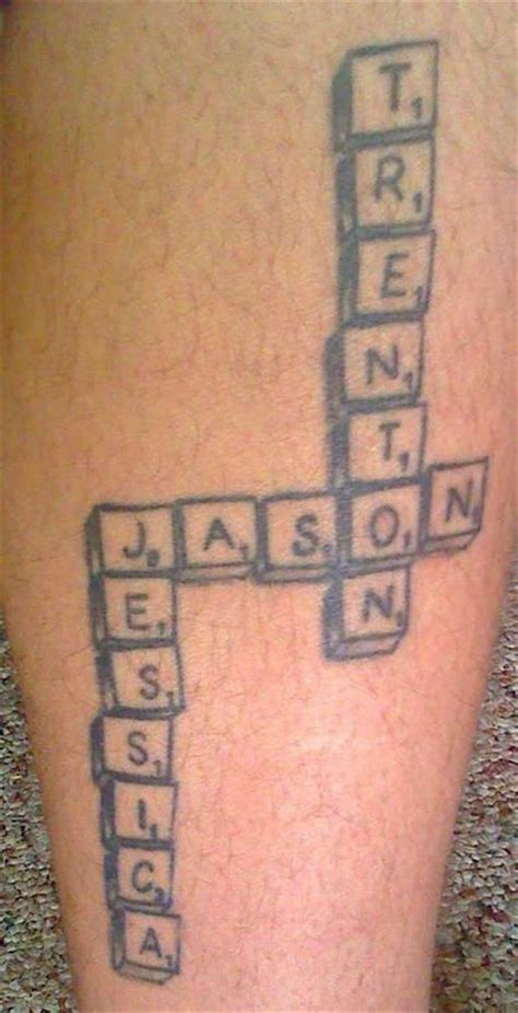 scrabble tattoo design 115 best images about name tattoos on infinity