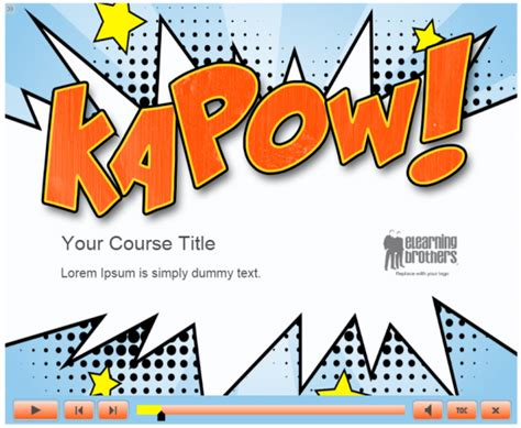 Comic Powerpoint Template the top 14 elearning template trends of 2014 elearning brothers