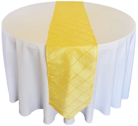 Yellow Table Runners by Canary Yellow Pintuck Taffeta Table Runners Sale