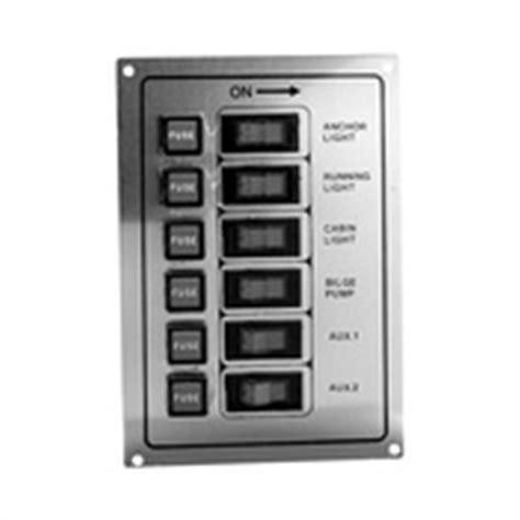 aluminum boat switch panel seachoice 174 6 gang rocker fused aluminum switch panel