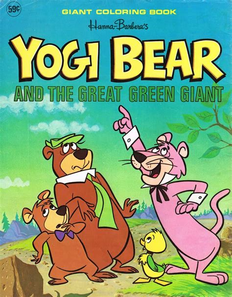 yogi on the green books barbera yogi snagglepuss coloring book 1976