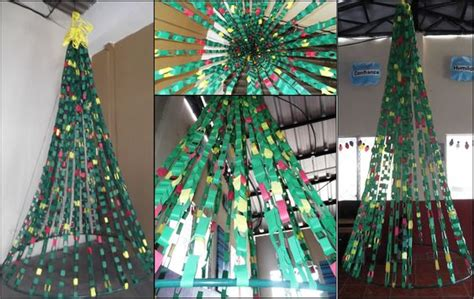 paper chain christmas tree i made for a school and church