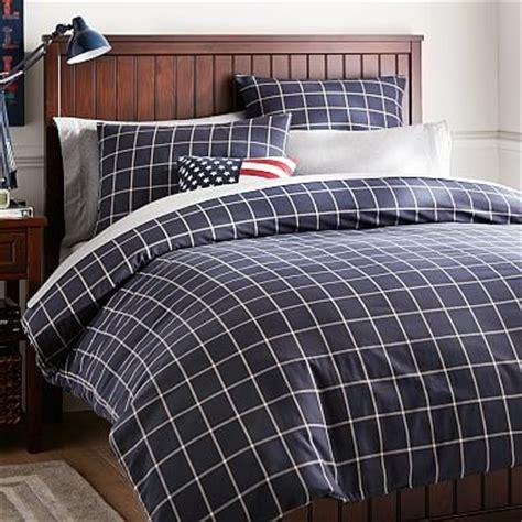 Plaid Comforter Cover by Boxter Plaid Duvet Cover Sham Navy White Pbteen