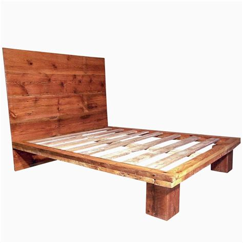 pine platform bed buy a hand crafted reclaimed wood platform bed from