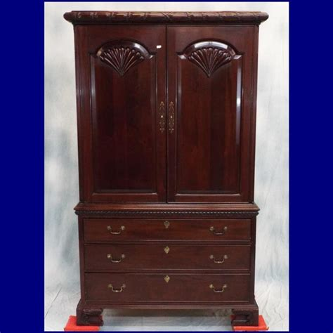 Tv Armoire With Drawers lg solid mahogany 3 drawer armoire tv cabinet by courtliech