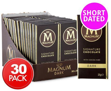 Magnum Milk Chocolate Bar 25g 30 x magnum signature chocolate mini bar 25g great