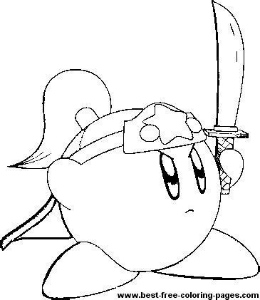 kirby coloring pages images  pinterest