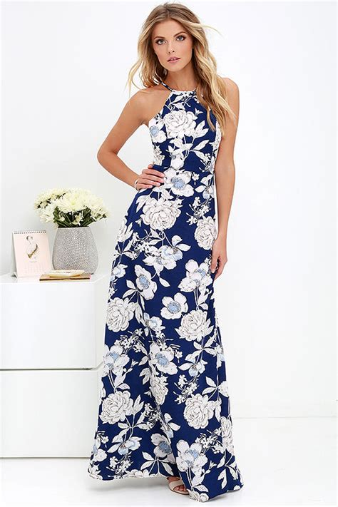 17684 blue floral overall dress lovely blue floral print dress maxi dress halter maxi