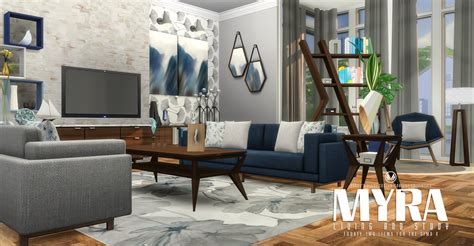 livingroom or living room my sims 4 myra living room set by peacemaker ic