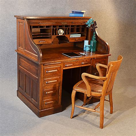 Bramley Bureau Desk From Desks Antique Roll Top Writing Bureau Desk Oak Edwardian Globe