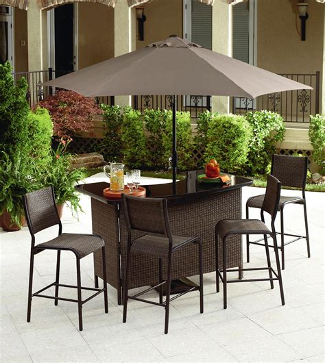 Patio Furniture Bar Set Ty Pennington Style Parkside 3 Bistro Set Outdoor Living Patio Furniture Small Space