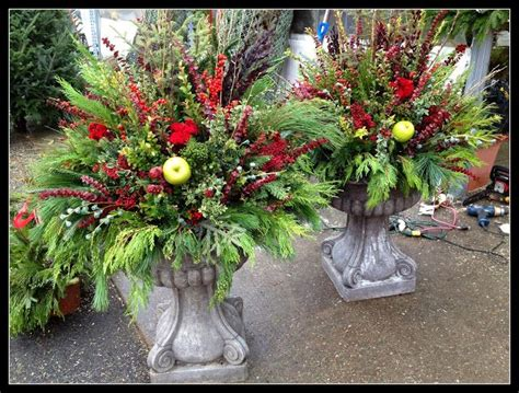 Outdoor Planter Arrangements by Fall Winter Outdoor Planters Flower Arrangements
