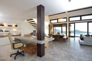 Contemporary Office Space Ideas Modern Neutral Home Office Space Interior Design Ideas