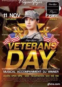 veterans day v1 2017 flyer template 187 vector photoshop
