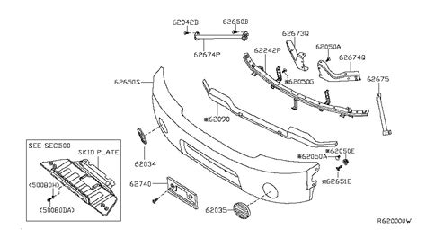 nissan titan parts diagram front bumper for 2004 nissan titan nissan parts deal