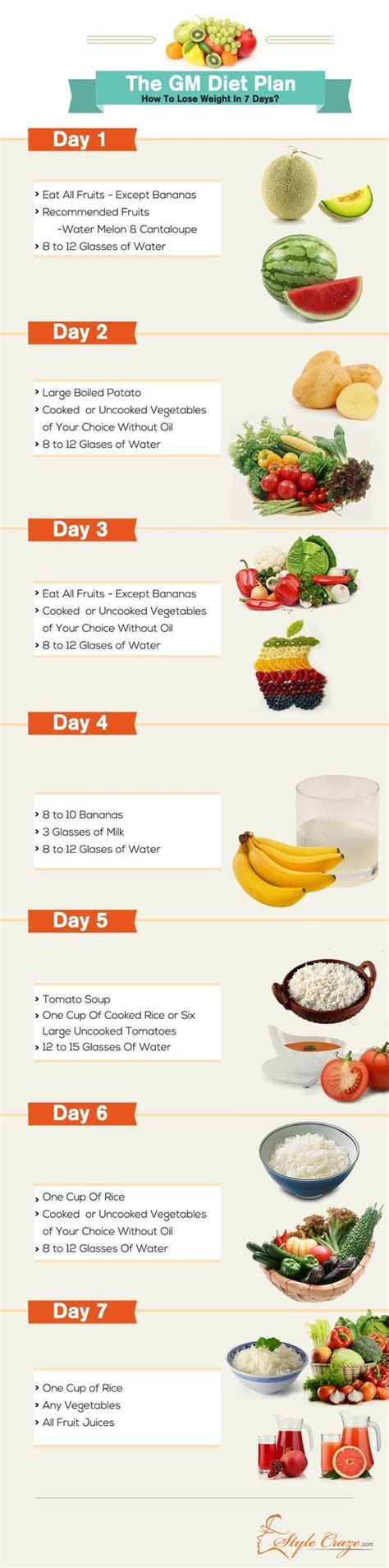 7 Day Detox Drop Pdf by The Gm Diet Plan How To Lose Weight In 7 Days Http