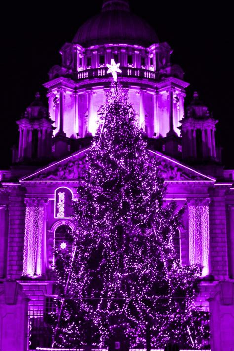 purple christmas tree purple shades of things pinterest