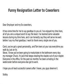 Resignation Letter To Colleagues by Sle Resignation Letter 6 Exles In Pdf Word
