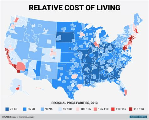 most expensive states to live in regional price parities business insider