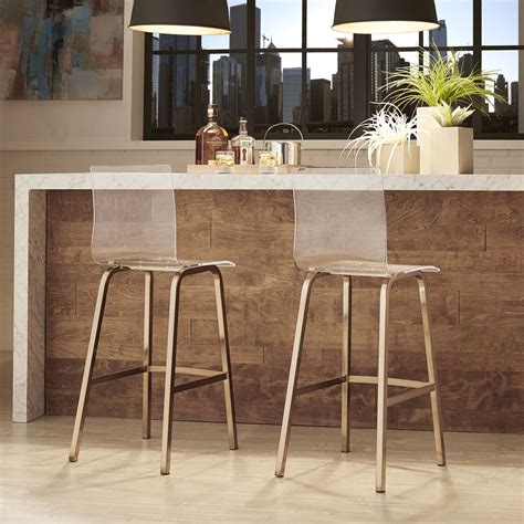 Inspire Q Bar Stools by Inspire Q Acrylic Swivel Bar Stools With Back