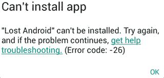 Play Store Can T Install Apps Play Store Can T Install App Error Code 26