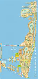 Map Of Miami Beach by Large Miami Beach Maps For Free Download High Resolution