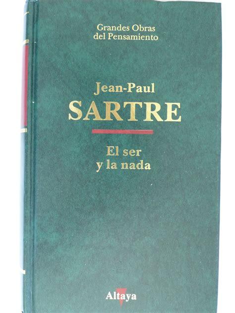 el ser y la libro el ser y la nada jean paul sartre filosof 237 a nuevo bs 8 708 31 en mercado libre