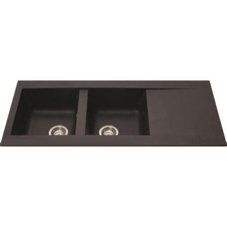 cda black composite single bowl 860mm x 500mm inset cda kp33bl 2 0 bowl reversible composite sink black