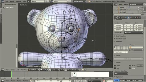 blender tutorial teddy bear teddy bear blender rigify rigging youtube
