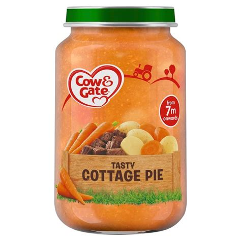 tasty cottage pie morrisons cow gate tasty cottage pie jar 200g product
