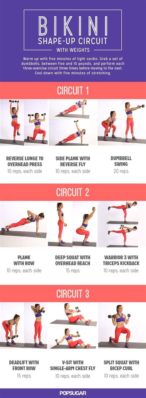 Exercises To Fit Every Shape And Size by This Printable Circuit Workout Tones Every Inch