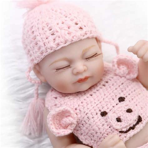 Baby Alive 11 Vinyl Mini Newborn Baby Dolls Boy Boneka Gift baby doll reborn lifelike mini newborn babies 11 inch silicone vinyl princess
